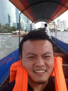 Jaafar at the Chao Phraya RIver in Bangkok earlier this year